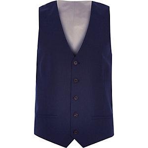 Navy smart slim waistcoat