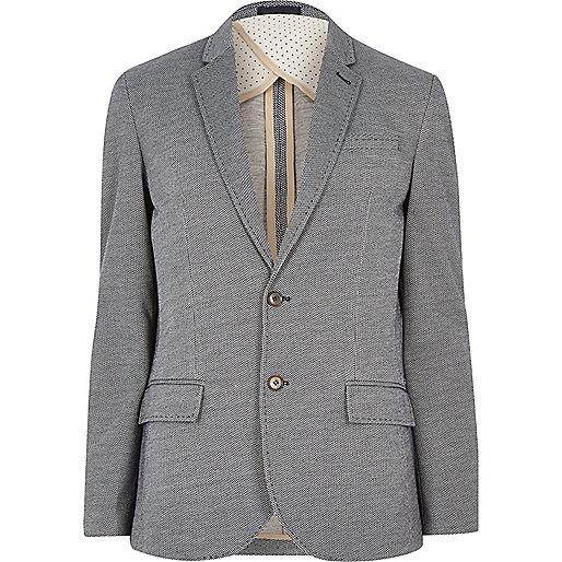 Navy smart slim blazer