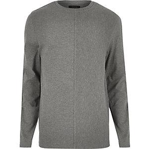Grey textured block sweatshirt
