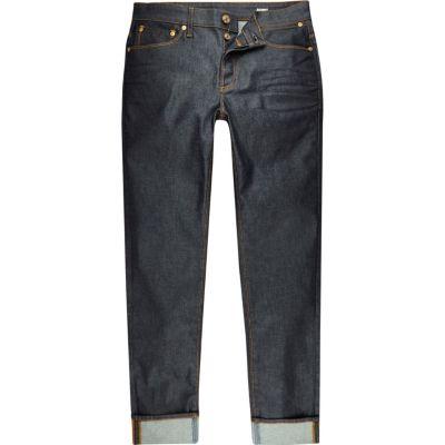 Sid dark wash skinny jeans met omslagen