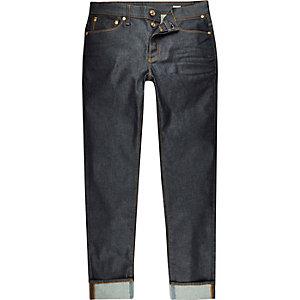Dark wash turn-up Sid skinny jeans