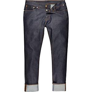 Dylan – Dunkelblaue Jeans mit Umschlag
