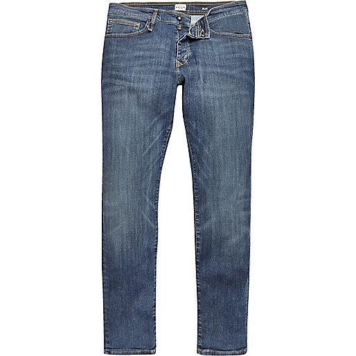 Jean slim Dynal RI-Flex bleu délavage moyen