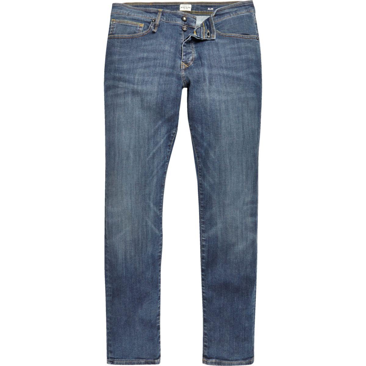 Mid blue wash RI-Flex Dylan slim fit jeans