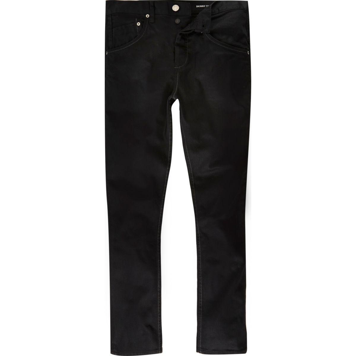 Black Chester skinny tapered jeans