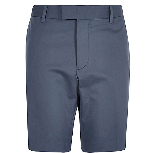 Navy smart bermuda shorts