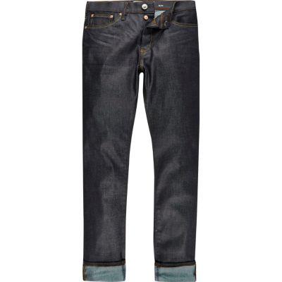 Smalle donkerblauwe Dylan jeans met wassing