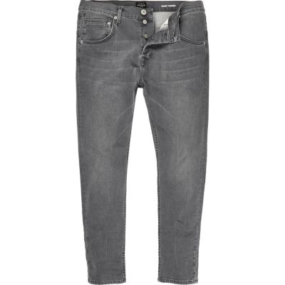 Grijze taps toelopende skinny jeans