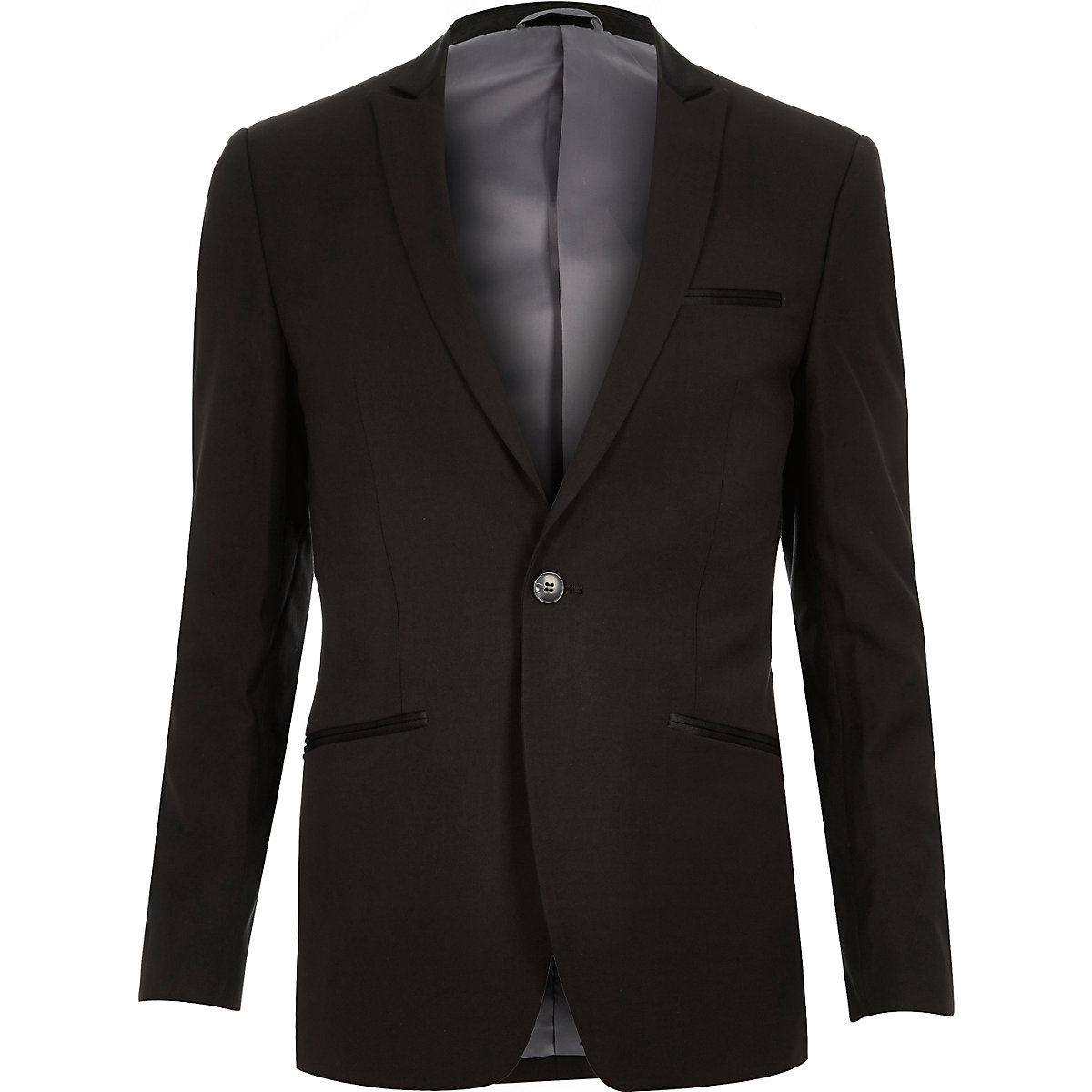 Black Vito slim fit wool-blend blazer