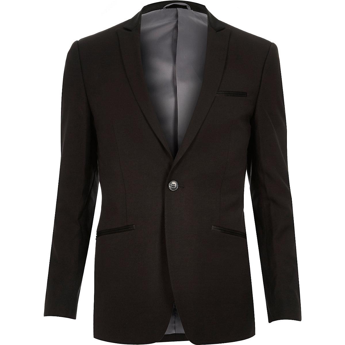 Blazer en laine mélangée noir Vito coupe cintrée