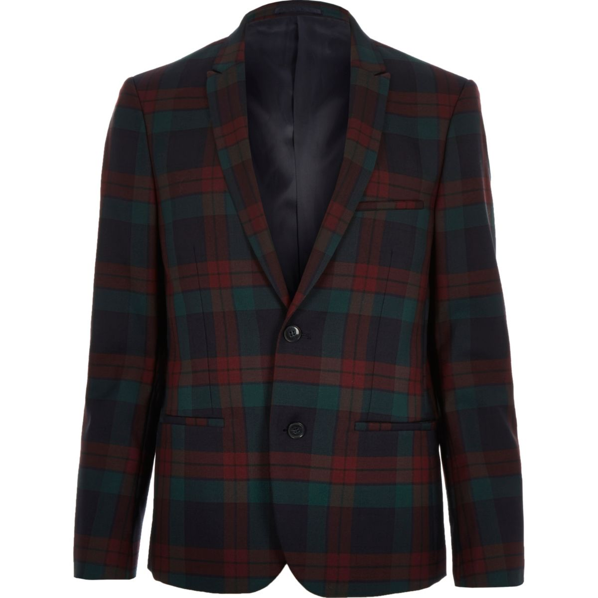 Dark red checked Vito blazer
