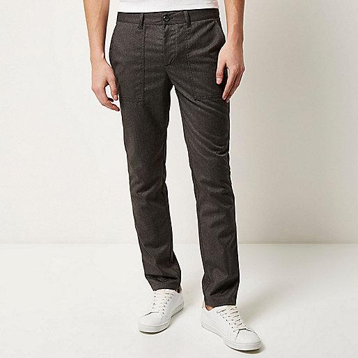 Light grey slim cropped pants