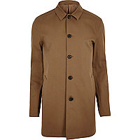 Brown smart minimal mac coat