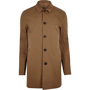 Brown smart minimal mac coat