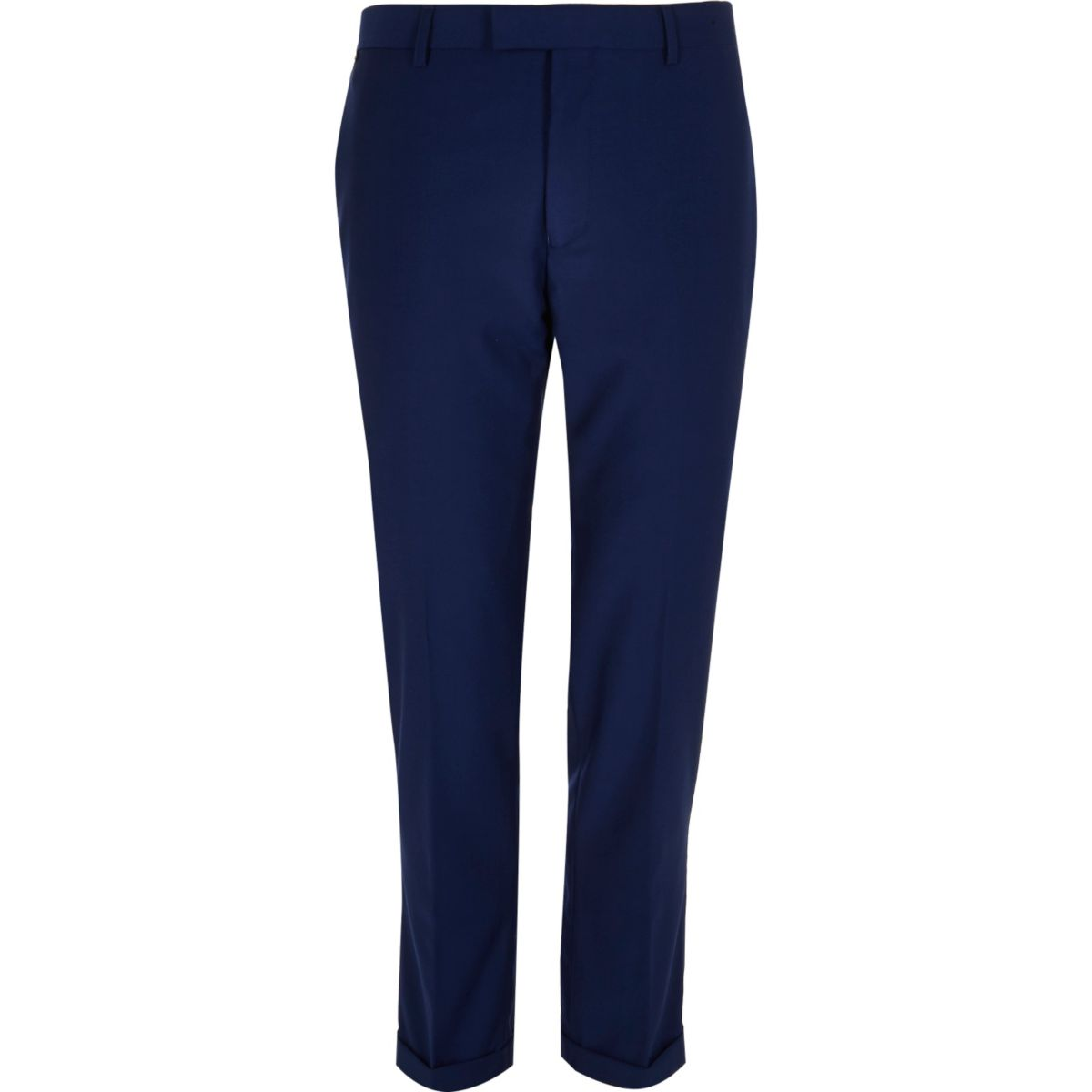 Bright blue slim cropped pants