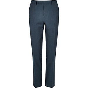 Petrol blue slim pants