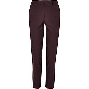 Burgundy smart skinny pants