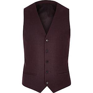 Burgundy waistcoat
