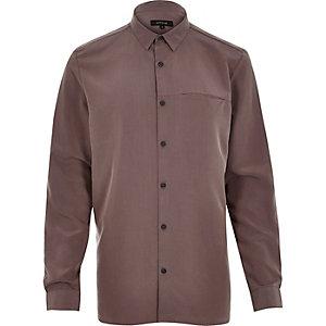 Purple slinky cupro shirt