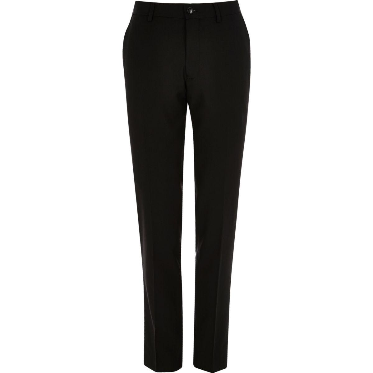 Zwarte Vito slim-fit pantalon