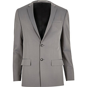 Light grey slim suit jacket