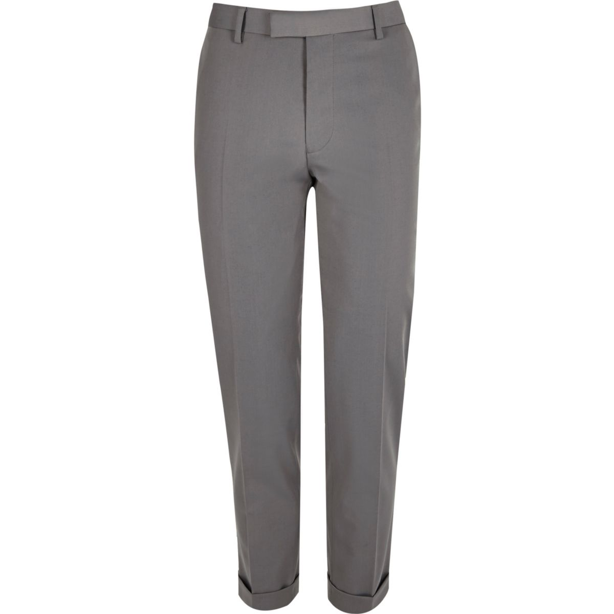 Light grey slim suit trousers