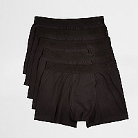 Black branded boxers multipack
