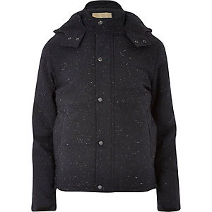 Navy RVLT wool-blend jacket