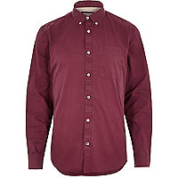 Berry twill casual shirt