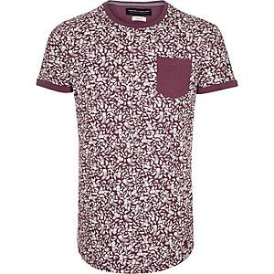 Red Jack & Jones Premium print t-shirt