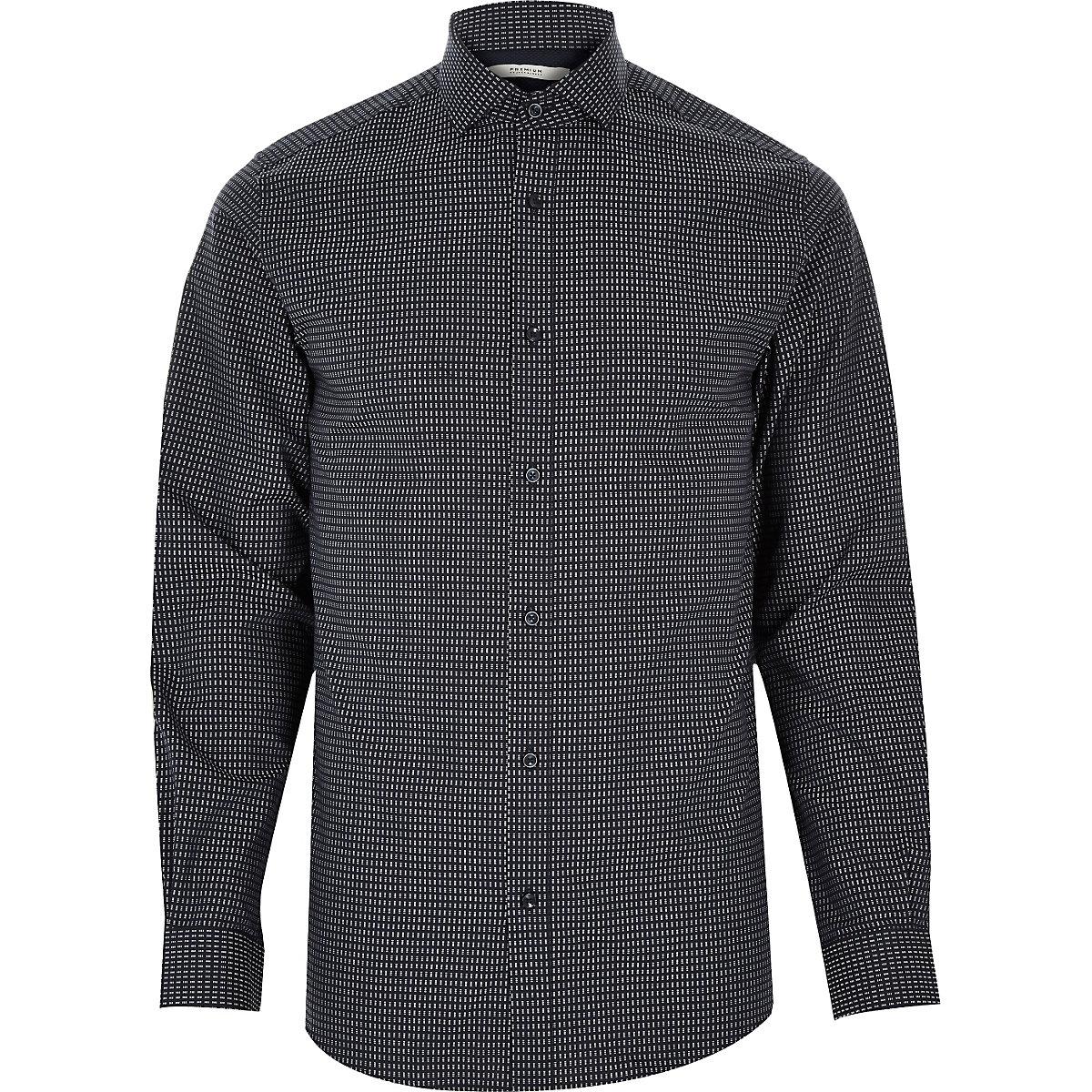 Grey Jack & Jones Premium printed shirt