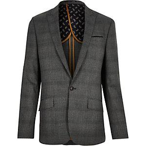 Grey Price of Wales check slim suit jacket