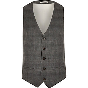Grey Prince of Wales check vest