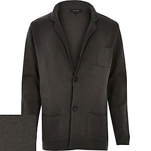 Dark grey knitted cardigan