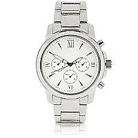 Silver tone Roman numeral watch