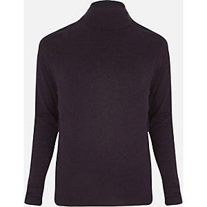 Dark purple roll neck sweater