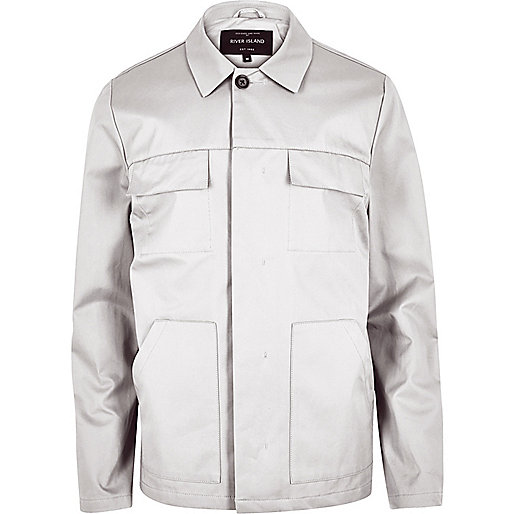 Light grey casual jacket