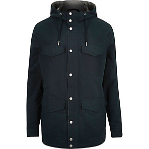 Navy blue four pocket coat