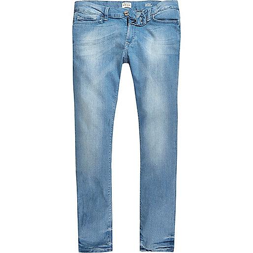 Jean super skinny Danny bleu clair délavé