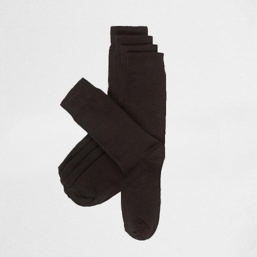 Unifarbene, schwarze Socken, Multipack