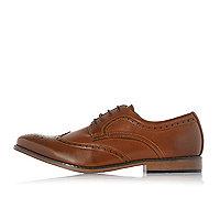Chaussures richelieu fauves à lacets