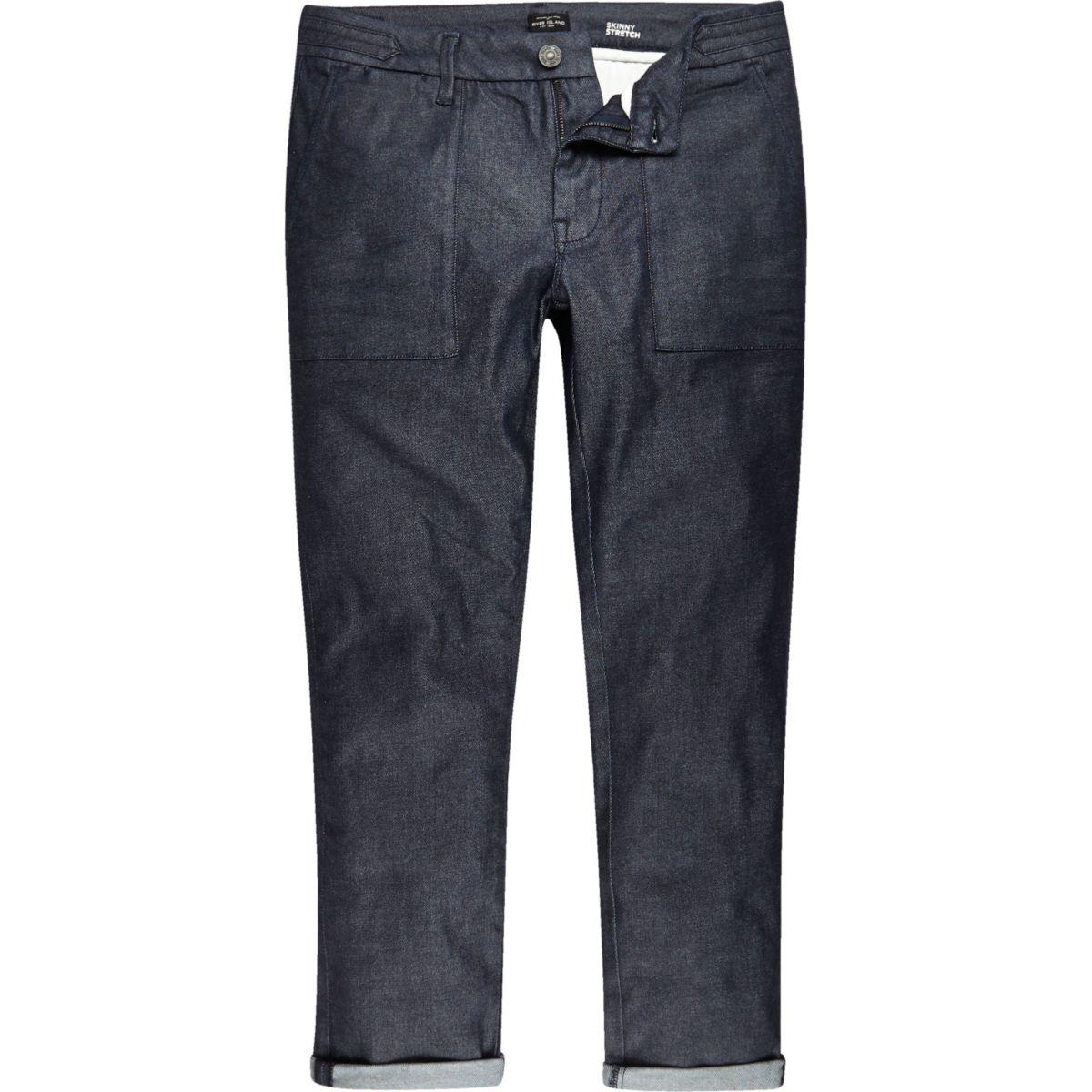 Dark wash worker Sid skinny stretch jeans