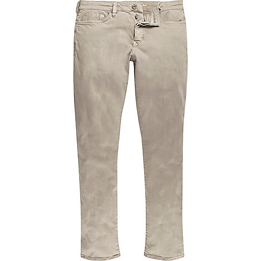 Light brown Dylan slim fit jeans