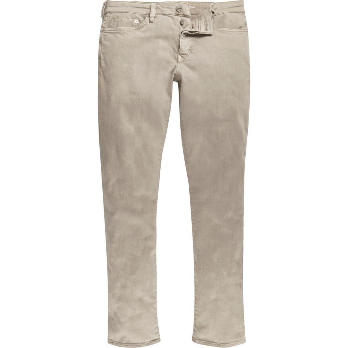 Light brown Dylan slim fit jeans