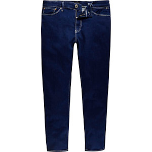 Dark blue Sid skinny stretch cropped jeans
