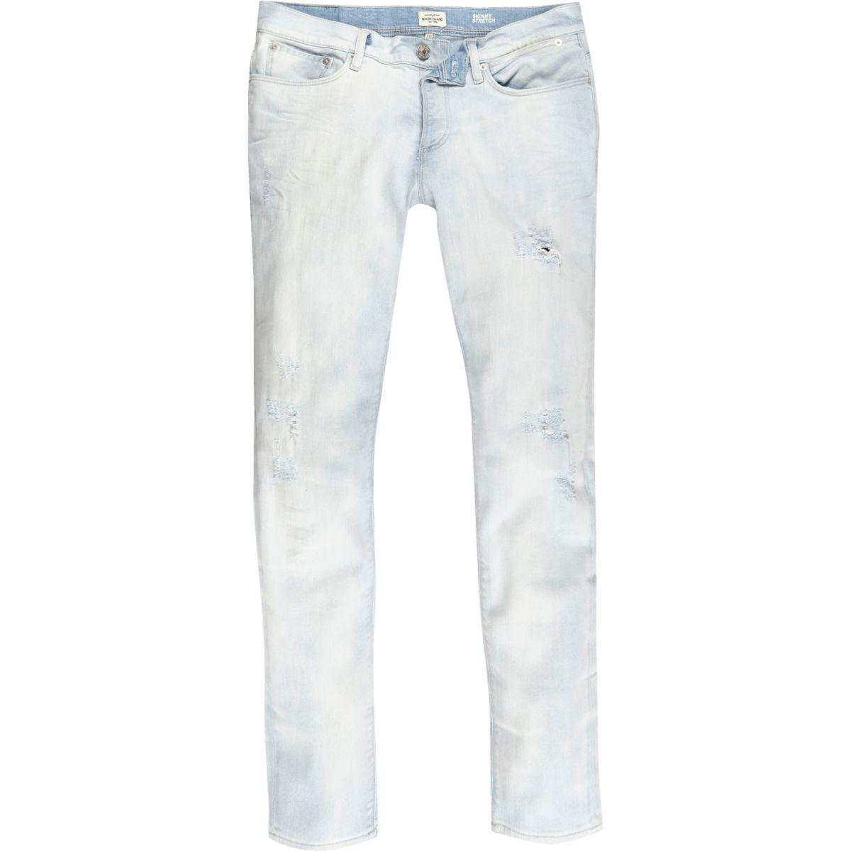 Light blue wash Sid skinny stretch jeans