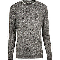 Dark grey crew neck jumper