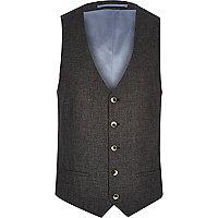 Black linen waistcoat