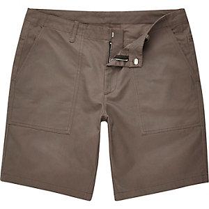 Grey casual slim fit bermuda shorts