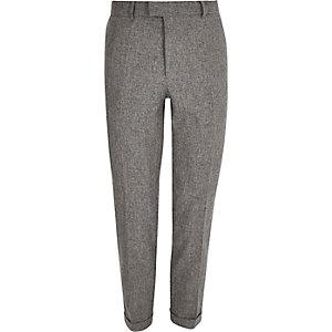 Grey melange slim pants